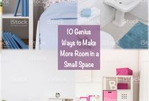 Places with Small Spaces / Don't let a small space in your home discourage you. This board is all about unique, simple and creative ways you can make the most of a small space. Find storage solutions, organizational tips and even DIY projects that will free up some space in your home. Utilize every space in your house whether it be your tiny bathroom, pantry, hallway or laundry room. Your home does not have to be a cluttered mess just because it is small.