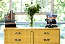 English Yellow Chalk Paint® Decorative Paint / English Yellow pieces make me smile!
