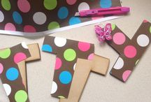Mis letras / Paso a paso de letras de madera decoradas