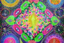 Psychedelic Art 60's,70's / is art about universe,technic colour,and flying to the moon