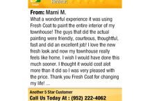5 Star Reviews for Fresh Coat Painters Eden Prairie / What our amazing customers want to share about how we did for them.