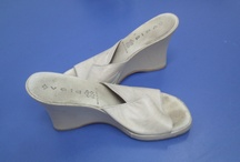 Reciclaje de zapatos / Zapatos forrados de tela. Transformación y reciclaje de zapatos viejos.   Fabric covered shoes. DIY shoes.