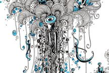 Design quadri fatto con la ghiaia