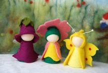 Create : peg dolls