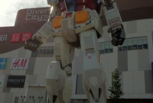 18-meter-tall Gundam statue / The Gundam statue is an 18 meter tall statue located in Diver City Tokyo, Odaiba, Tokyo, Japan. (Photos taken on 26.May 2012)