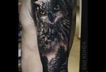 Félkaros tetoválások