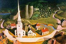 Art - American Artists and Americana / Specifically American-themed art, scenes, and American artists. / by Joan Redd