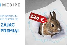 Wielkanoc 2017 - PREMIE 120 €! / Złap zająca z wielkanocną premią od Medipe!  120 € premii gwarantowanej w umowie otrzyma każdy, kto przepracuje okres wielkanocny. Skontaktuj się z nami - dobierzemy ofertę dopasowaną do Ciebie! tel. 713778888 e-mail: rekrutacja@medipe.com Regulamin dostępny na stronie www.medipe.com
