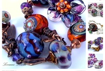 Lampwork and Wire Jewellery / Glass and Jewellery Created by Lorraine Dowdle