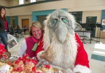 Holiday Craft Bonanza / The Holiday Craft Bonanza, the second Saturday in November, is our kick-off to the Holiday Season in Mount Horeb . The Holiday Craft Bonanza includes artists and crafters, a large Bake Sale (yum), Silent Auction, as well as visits from Jorgen the Troll.