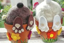 bunny in a pot