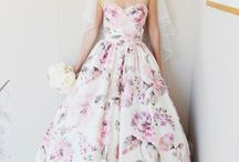 Floral wedding dresses..