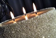 German Glass glitter event candles