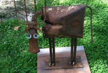 Metal sculptures and screens  for gardens