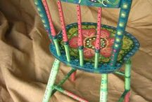 Painted chairs / by Janet