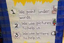 kindergarten anchor charts / by Michelle Zelten