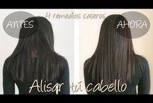 alisar el cabello