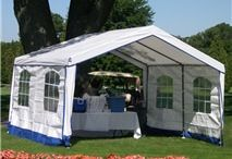 Party Tents With Windows / Our party tents with windows provide privacy. It also lets you and your guests enjoy the view of the outdoors. The windows add elegance to the overall appearance of the structure. That's why the party tents with windows are the ones often used for weddings and other formal functions. They are also great for exhibitions, trade shows, sports events and impromptu meetings. / by Ace Canopy