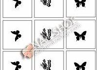 Трафареты / Трафареты для аэрографии на ногтях