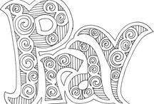 Colouring pages / Christian theme