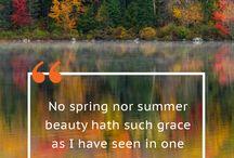 Beautiful Fall Quotes / Inspiring Fall Quotes
