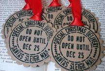 Weihnachten Labels