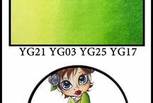 COPICS: YELLOW GREENS / Copic Marker Color Combinations