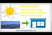 Advantages and disadvantages of solar energy  / Advantages and disadvantages of solar energy