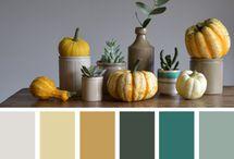 Fall colour inspo / Inspiration for colourful fall/autumn makeup looks