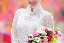 wedding dresses and áo dài