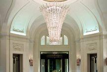Hotel lobby foyer