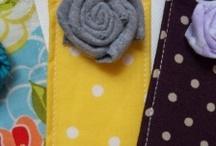 fabric flower bookmark