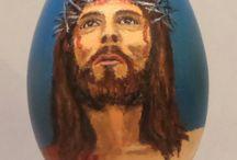 Felicja Musioł-Kozielska eggs Easter /  eggs Easter blown art portrait religion