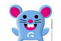 Stickers #GONCHI / Stickers para la app telegram con la mascota de Clínica Dental Gonzalvo, GONCHI, como protagonista. Si quieres descargarlos para utilizarlos en tu telegram: https://telegram.me/addstickers/gonchi