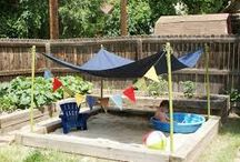 Small child friendly garden makeover / Our current back garden is just a concrete yard with unforgiving sharp edges and is completely child unfriendly we need to make some changes so we can enjoy our garden as a family. We don't want anything fancy just a practical space we can use and enjoy  / by Emma Shilton