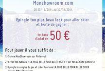 PIN TO WIN : LA PLUS BELLE POUR ALLER SKIER / Grand jeu Pin to win : du 23/12 au 30/12 MonShowroom vous propose de partager vos plus beaux looks pour aller skier! Epinglez votre atmosphère et votre plus belle tenue de Ski #monshowroom avec au minimum 10 produits ! et tentez de gagner un bon d'achat de 50€ ! Seuls les tableaux les plus créatifs seront récompensés !  / by MonShowroom.com ♥