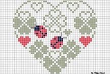 Biedroneczki - cross stitch ladybugs / Piegowate szczęście :)
