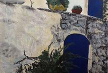Bleu provencal / Peinture acrylique Bleu provençal