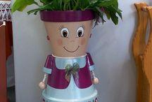 flower pot family