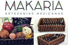 MAKARIA Decoración / Convierte una hermosa artesanía en un artículo de decoración para tu hogar.