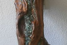 Beach glass & drift wood