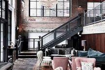Industrial loft decor