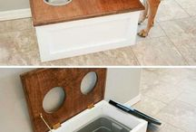 dog bowls with storage