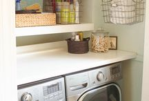 Laundry Room Love / Laundry rooms can be awesome if you give them a little love and attention. If they're just as nice as your favorite part of the house, you'll never dread going in there. ;)