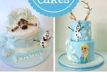 Thème / gateau Reine des Neiges / Frozen Disney / cake