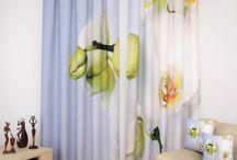 Moderné farebné závesy / Moderné farebné závesy do spálne, obývačky a detskej izby