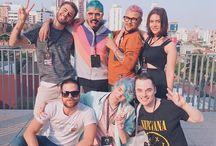 Erick Mafra Ontem no #YouPixCon com os mais coloridos do youtube! ✨ Só faltou a @mairamedeiros_ e o @maiconsantini!