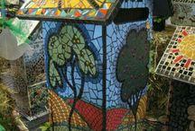 mosaic mail box