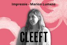 Impressie - Marion Lumens / Marion Lumens schrijft tweewekelijks een column voor CLEEFT.