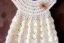 vestido crochet para bebe